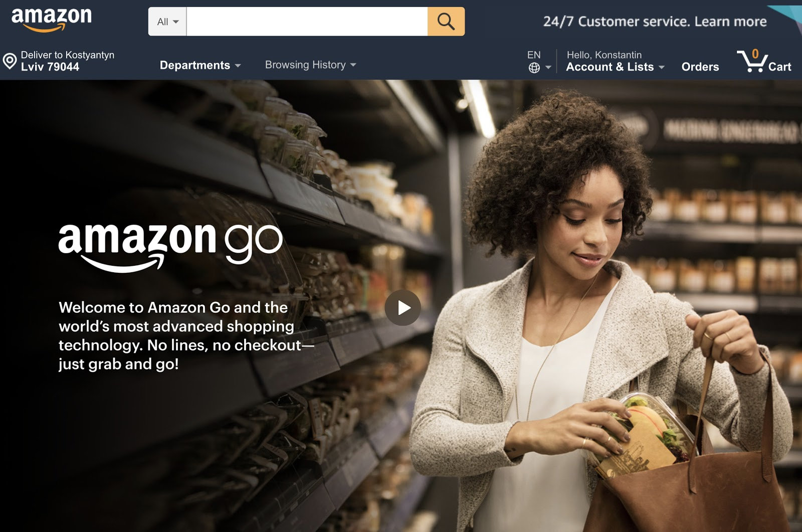 grab and go by Amazon