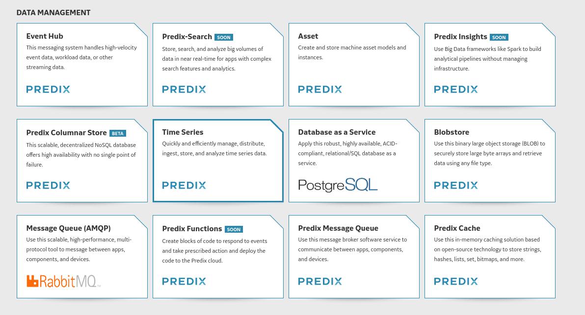 Data management Predix