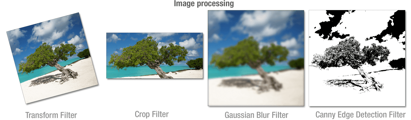 images with different filters: