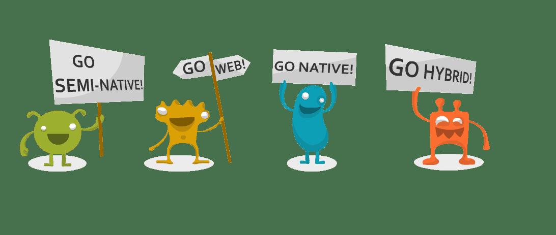 Go semi-native/web/hybrid/native